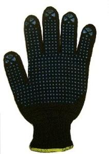 Перчатки рабочие хб 6 нитей с ПВХ ЧЕРНЫЕ