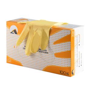 Перчатки смотровые латексные неопудренные, двухкратного хлорирования, текстурированные, натуральный