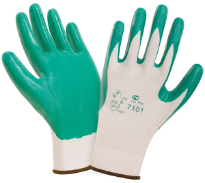 Нитриловые с легким покрытием 2Hands SafeFlex (СэйфФлекс) 7101