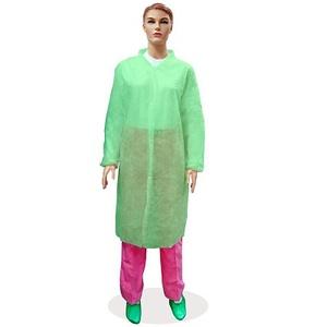 Халат медицинский нетканый (на кнопках), 30 гр./м2, зеленый, XL