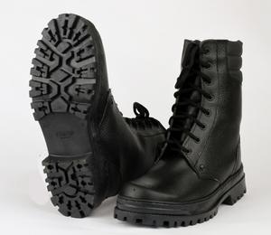 """Ботинки с высоким берцем """"Army"""" хром на натуральной шерсти"""