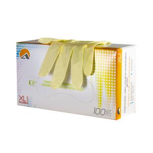 Перчатки высокой тактильной чувствительности смотровые латексные неопудренные, однократного хлорирования, текстурированные, натуральный