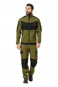"Куртка рабочая мужская летняя ""Forest"" цвет хаки/черный"