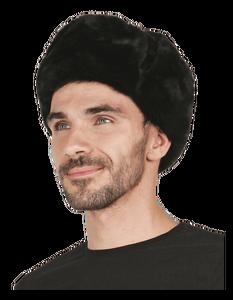 Шапка-ушанка (мутон) на искусственном меху